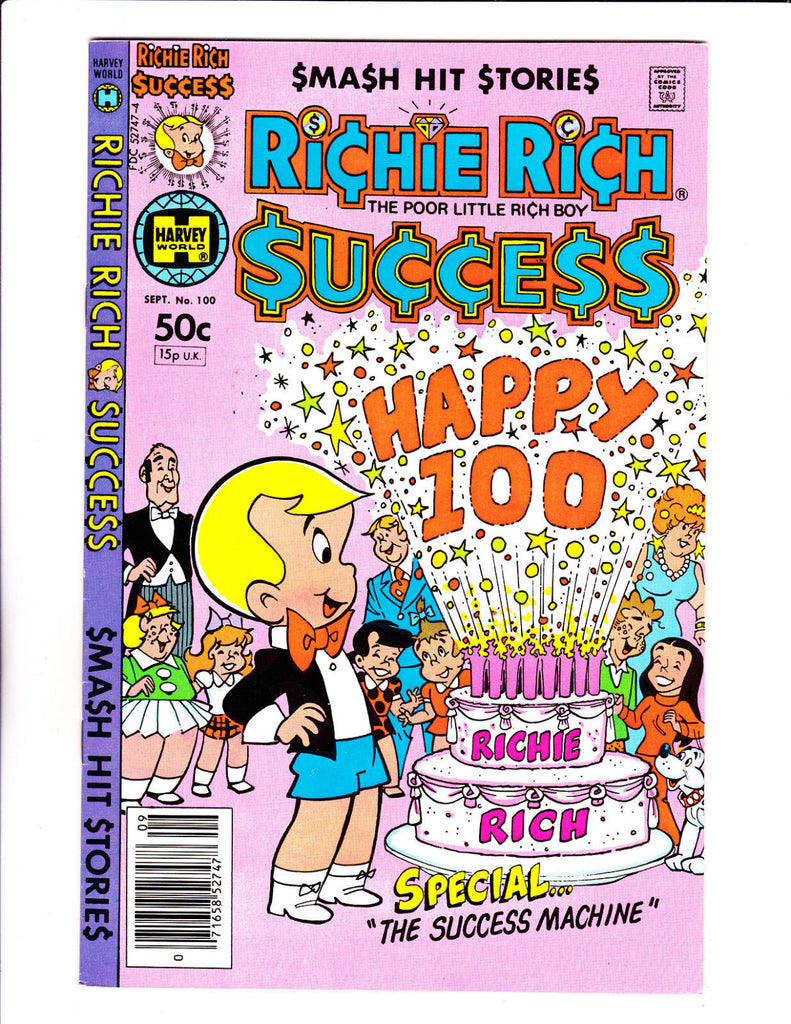 Richie Rich Success Stories No 100 : 1981 :Happy 100 Cake Cover :