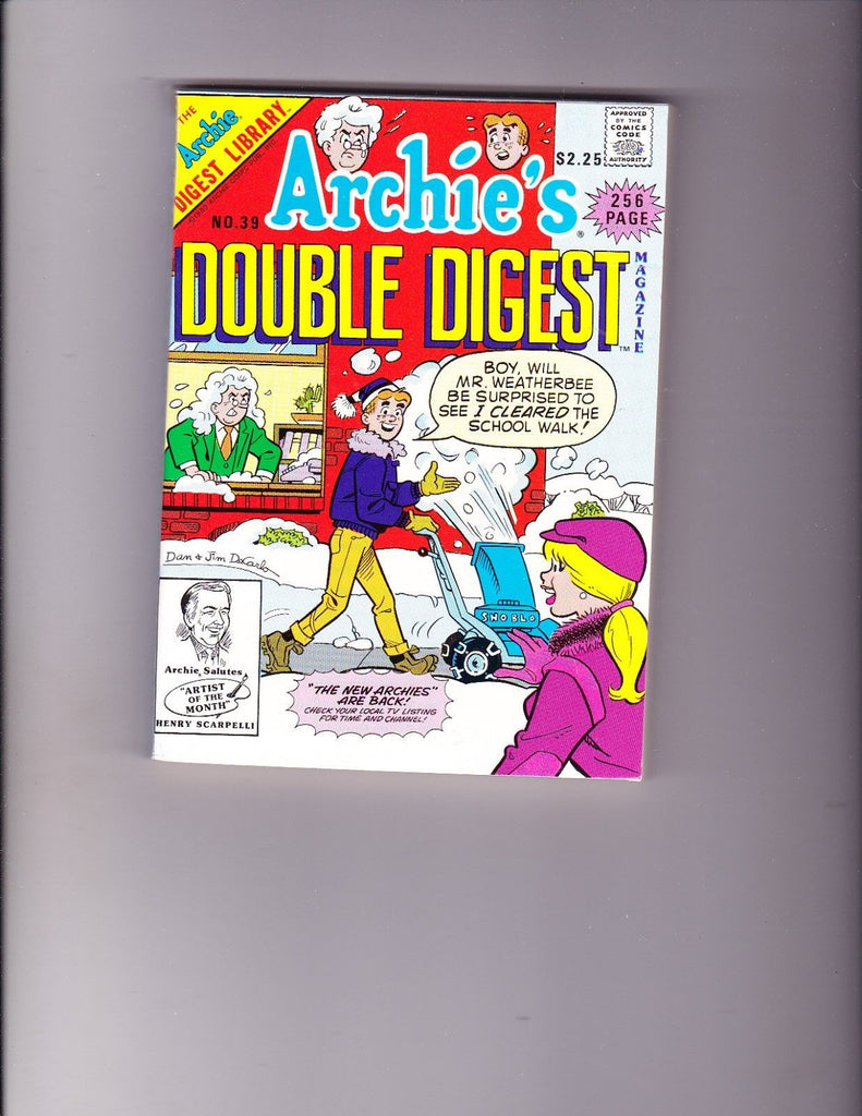 Archie's Double Digest 39 Snowblower Cover VF+ Copy
