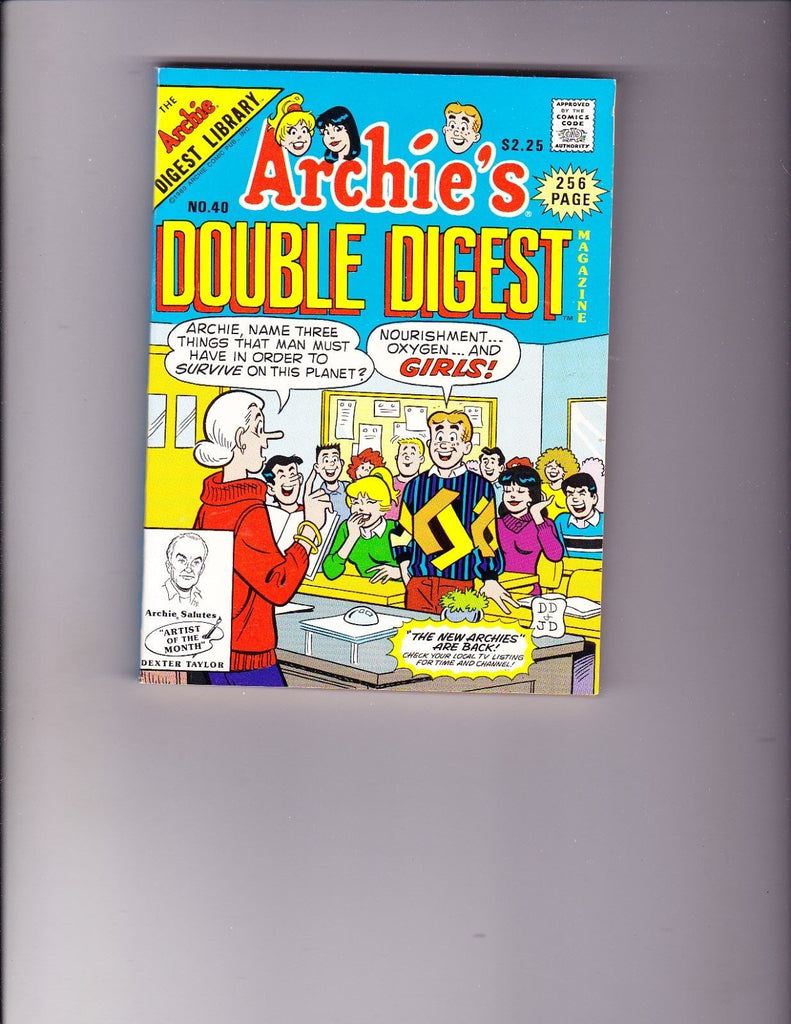 Archie's Double Digest 40 Classroom Cover VF Copy