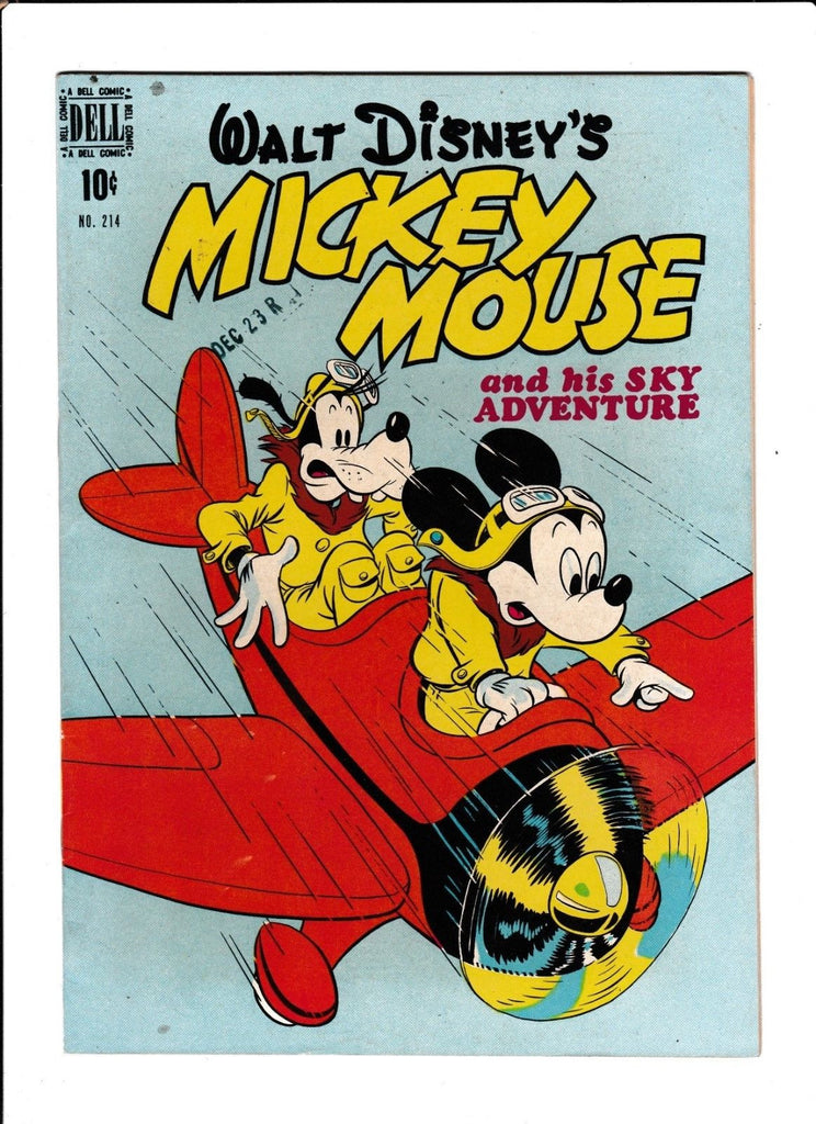 Four Color No.214 : 1948 : : Mickey Mouse : : Plane Cover :