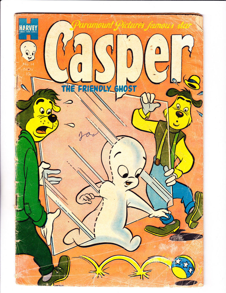 Casper The Freindly Ghost No 14 : 1953 :Walking Through Glass Cover :