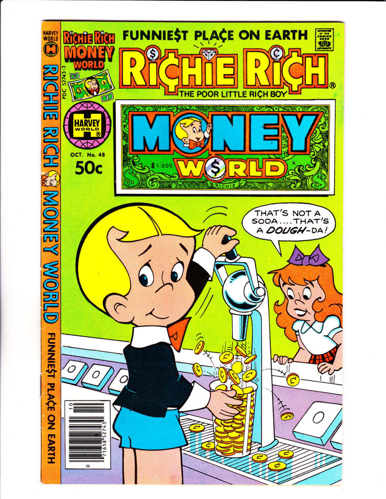 Richie Rich Money World No 48 : 1980 :Soda Fountain Cover :