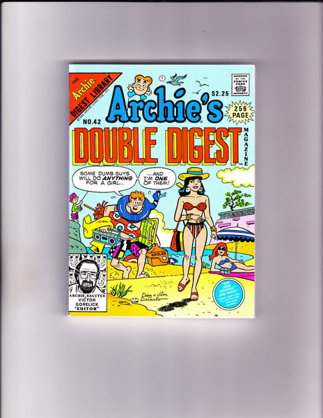 Archie's Double Digest 42 Beach Cover VF/NM Copy