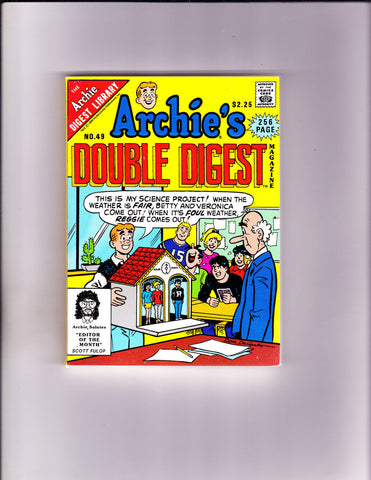 Archie's Double Digest 49 Archie's Science Project Cover NM- Copy