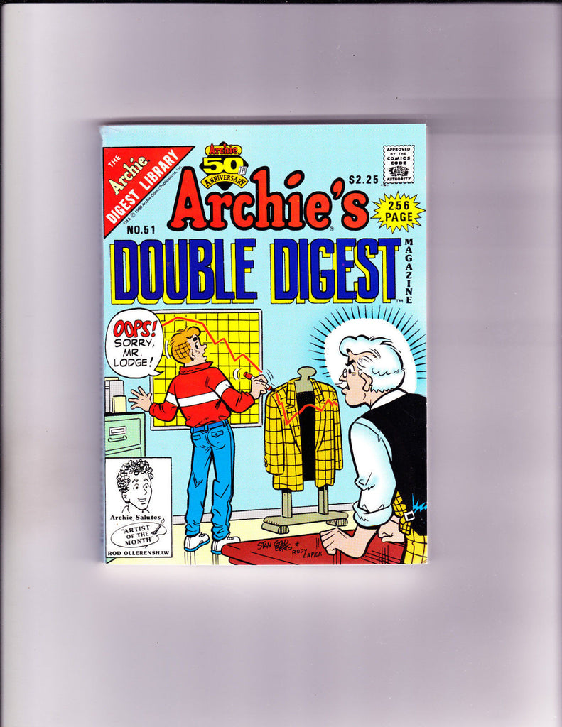 Archie's Double Digest 51 Marking Mr. Lodge's Coat Cover VF/NM Copy