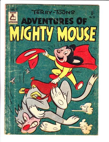 Adventures Of Mighty Mouse No 30 1950's -Austrailian -