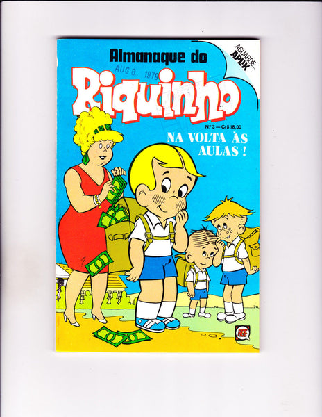 Almanaque do Riquinho No 3 1979 -Brazilian Richie Rich -