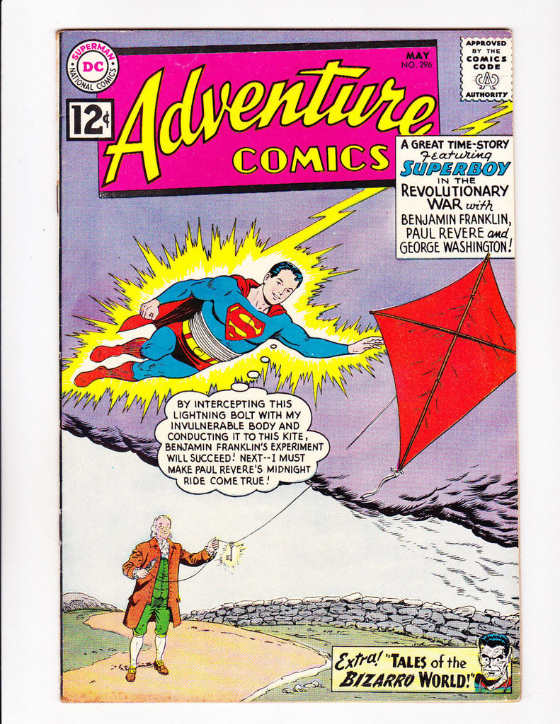 Adventure Comics No.296 : 1962 : : Benjamin Franklin Cover :