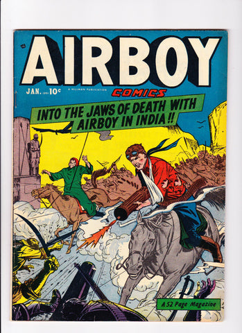 Airboy Comics Vol.7 No.12 :: 1951 :: :: Airboy In India ::