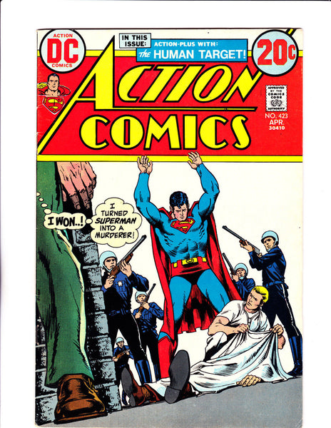 Action Comics No.423 : 1973 : : Origin Human Target :