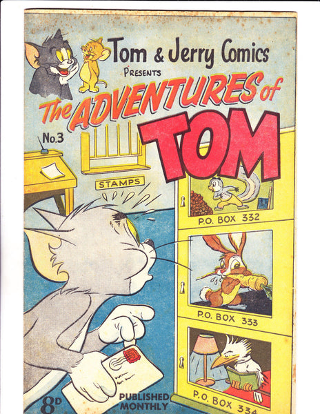 Adventures Of Tom No 3 1950's -Australian-