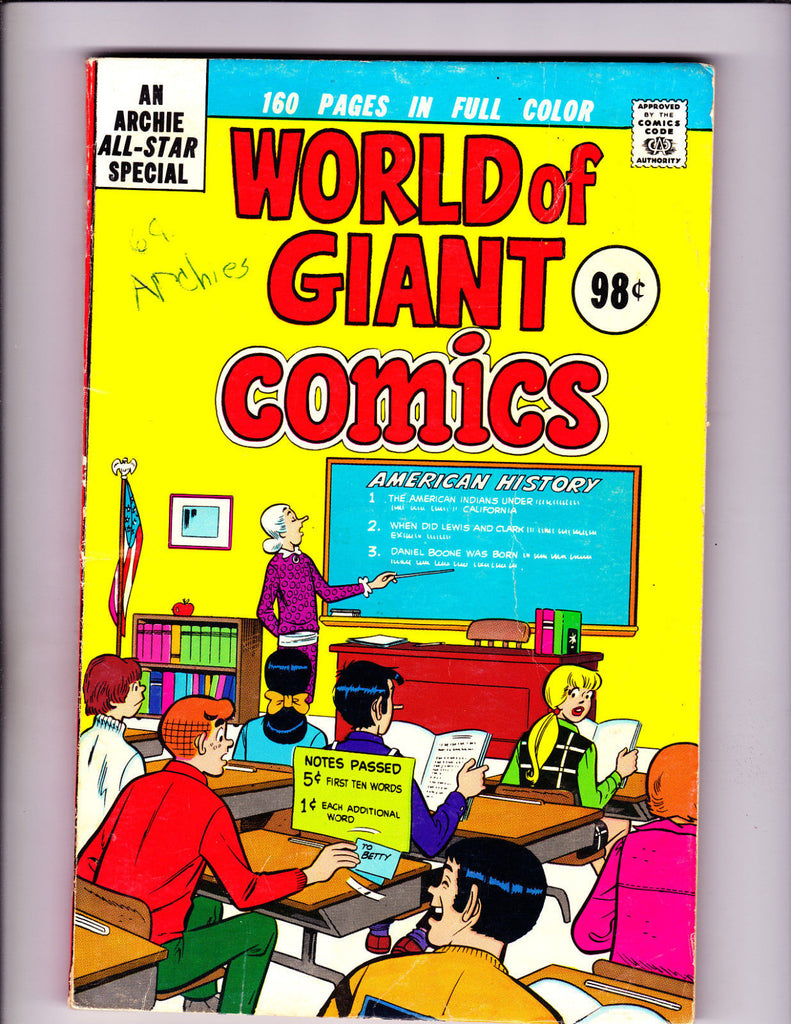 Archie At Riverdale High No.38 : 1976 : : Classroom Cover :