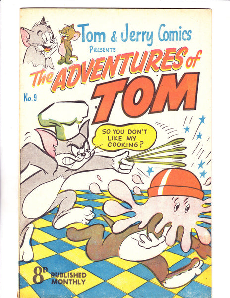Adventures Of Tom No 9 1950's -Australian-