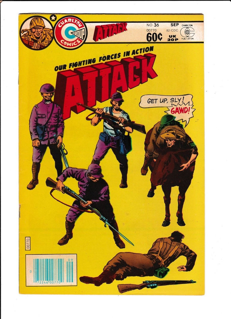 ATTACK #36 [1982 GD-VG] BAYONET COVER