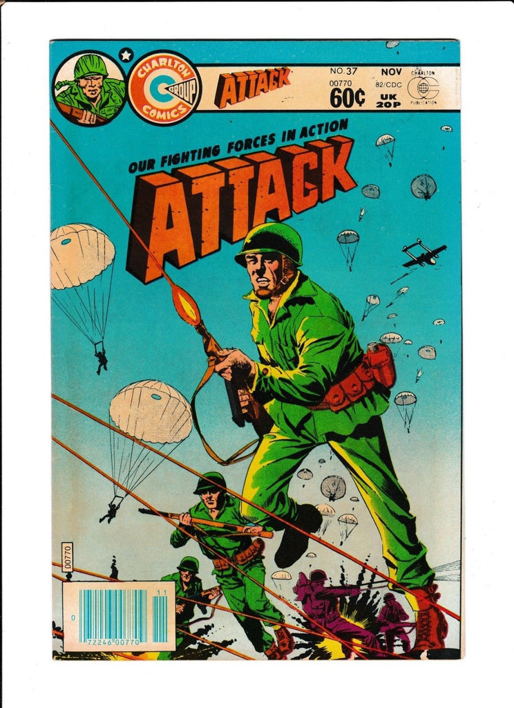 ATTACK #37 [1982 VG+] PARACHUTE COVER