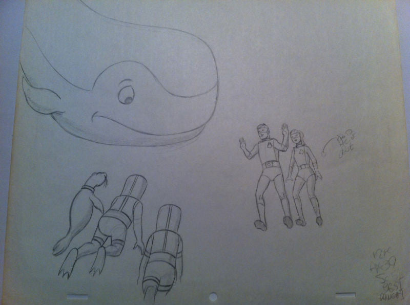 HANNA BARBERA MOBY DICK/SPACE GHOST ANIMATION SKETCH