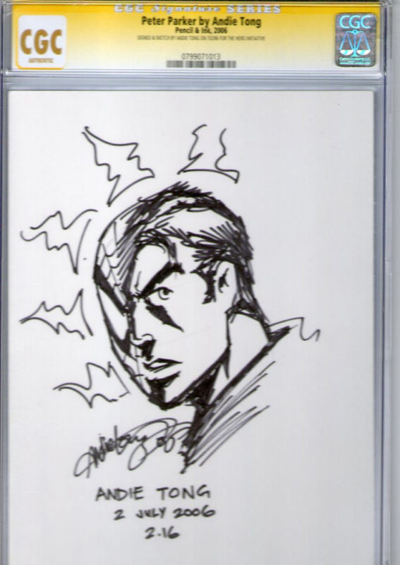 CGC SIGNATURE SERIES PETER PARKER BY ANDIE TONG