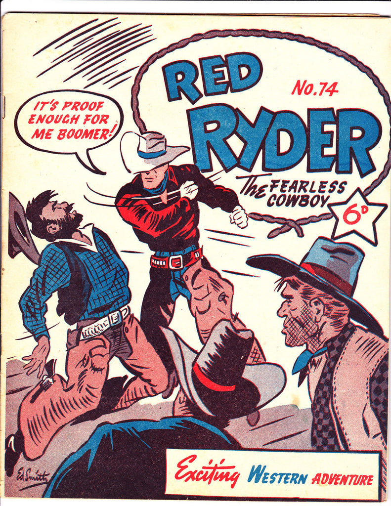 Red Ryder No 74 1950's -Australian-