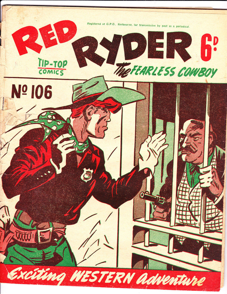 Red Ryder No 106 1950's -Australian-