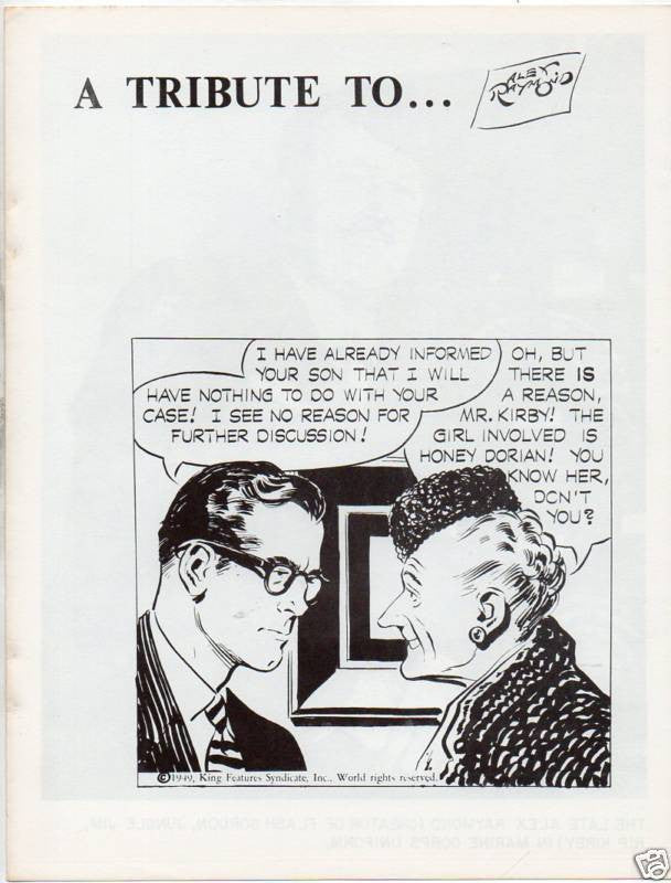 A TRIBUTE TO ALEX RAYMOND :: 4 PAGES TOTAL