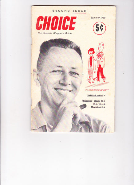 Choice 2 1959 Charles M Schulz cartoonist article