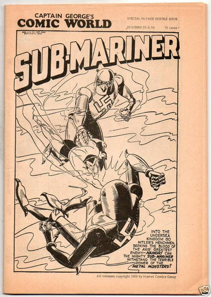 CAPTAIN GEORGE COMIC WORLD : 23 & 24 : 1969 SUBMARINER