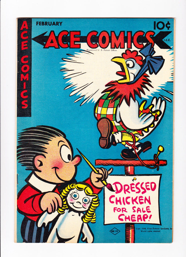 Ace Comics No.119 1947 :: Dressed Chicken For Sale Cheap ::
