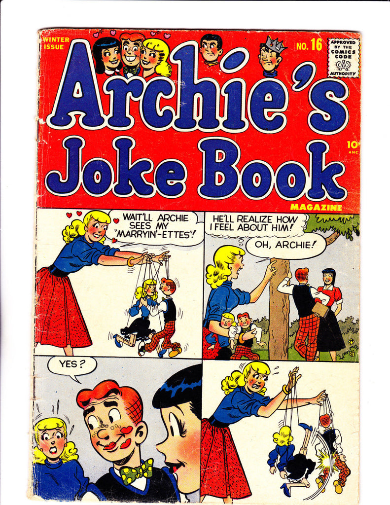 Archie's Joke Book No.16 : 1955 : : Puppets Cover :