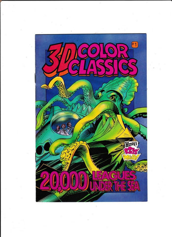 3-D COLOR CLASSICS #1-5 [1995] GREAT READS & GREAT FUN 4 PAIRS OF GLASSES