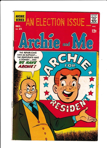 Archie & Me No.25 : 1968 : : Archie For President Cover :