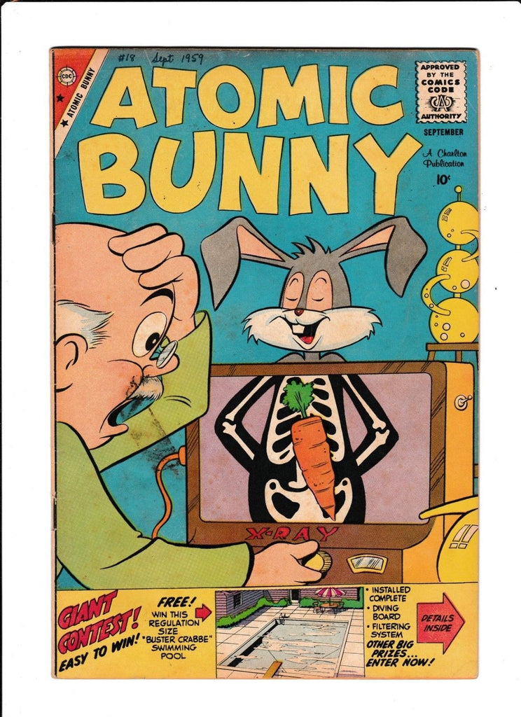Atomic Bunny No.18 : 1959 : : X-Ray Cover :