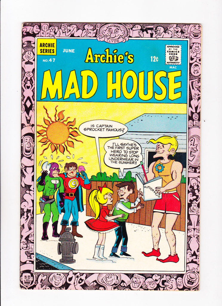 Archie's Madhouse No.47 : 1966 : : Super-Hero Cover :