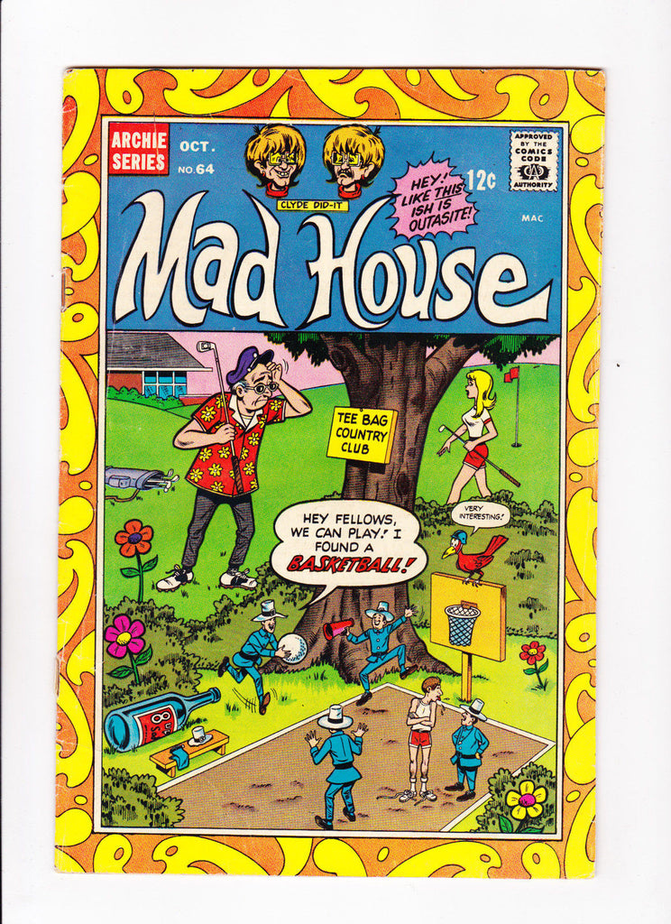 Archie's Madhouse No.64 : 1968 : : Golf/Basketball Cover :