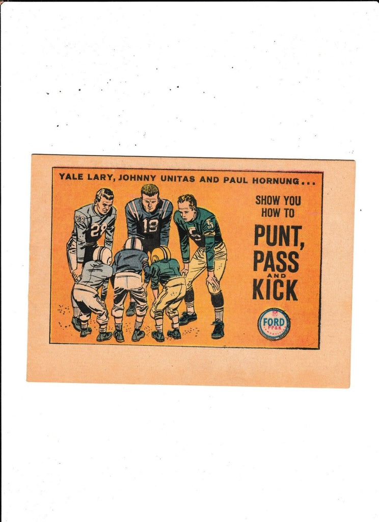 Punt, Pass & Kick : 1960's : : Johnny Unitas : : Not Listed In Guide :
