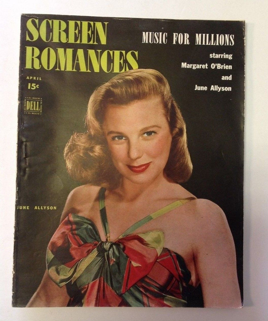 Screen Romances   April 1945    June Allyson Photo Cover