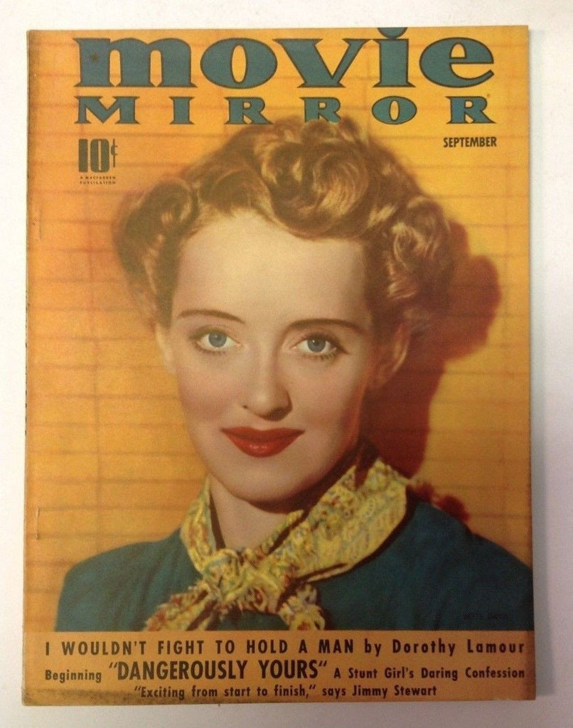 Movie Mirror Magazine   September 1939   Bette Davis Cover