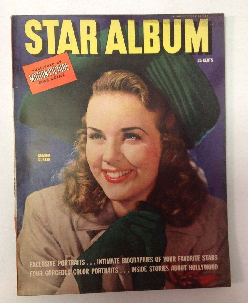 Motion Picture Star Album Magazine   1942   Deanna Durbin Cover  Pin Ups Inside