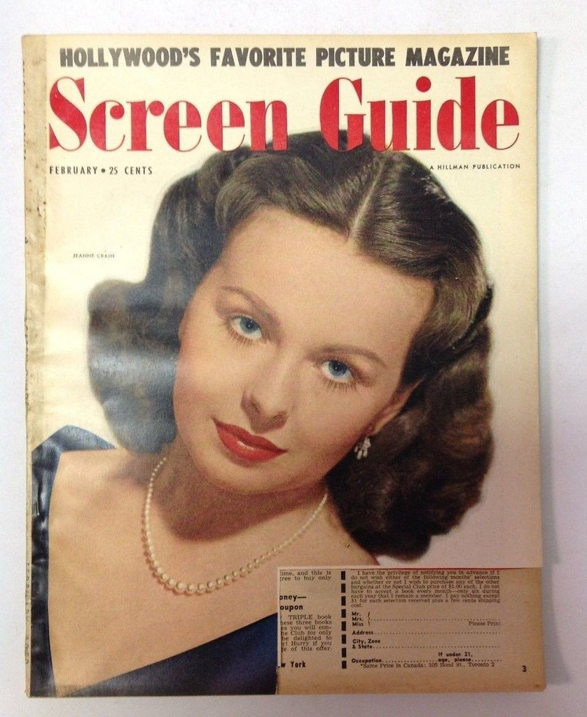 Screen Album Magazine    February 1950    Jeanne Crain Cover