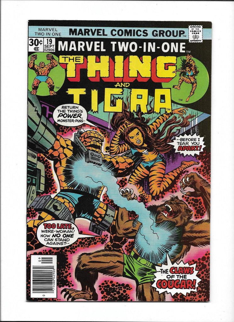 MARVEL TWO-IN-ONE #19  [1976 VG-FN]  THING & TIGRA