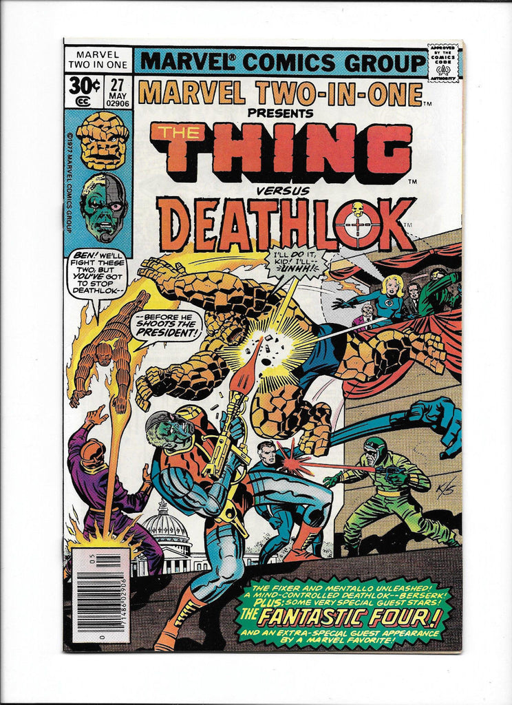 MARVEL TWO-IN-ONE #27  [1977 NM-]  THE THING vs. DEATHLOK  WASHINGTON DC COVER!