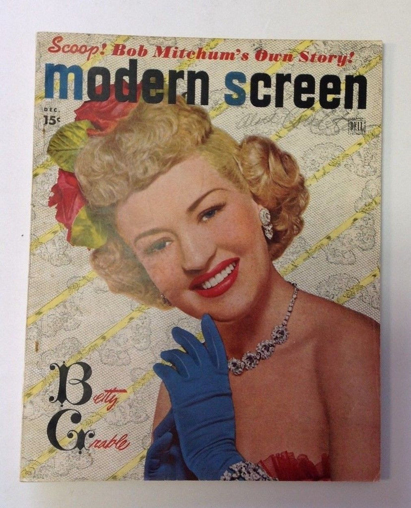 Modern Screen Magazine   December 1948    Betty Grable Photo Cover