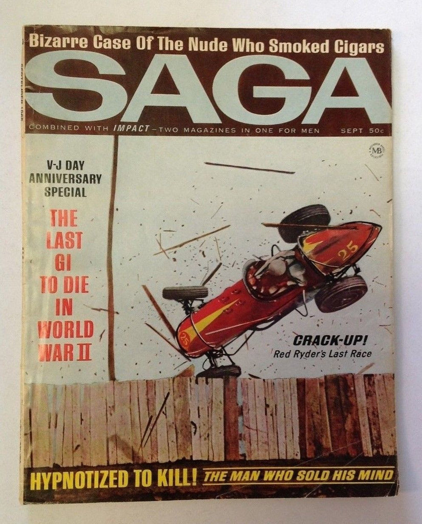 Saga Magazine    September 1965    Red Ryder Cover