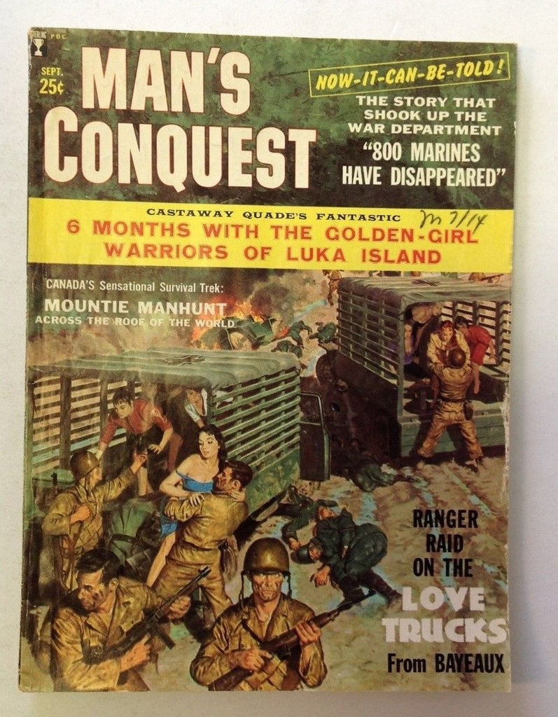 Man's Conquest Magazine     September 1959      Cool War Cover