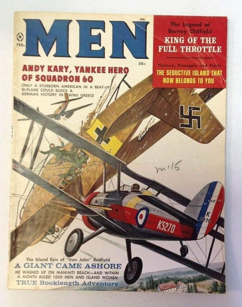 Men Magazine    February 1960    American and German WW2 Plane Cover
