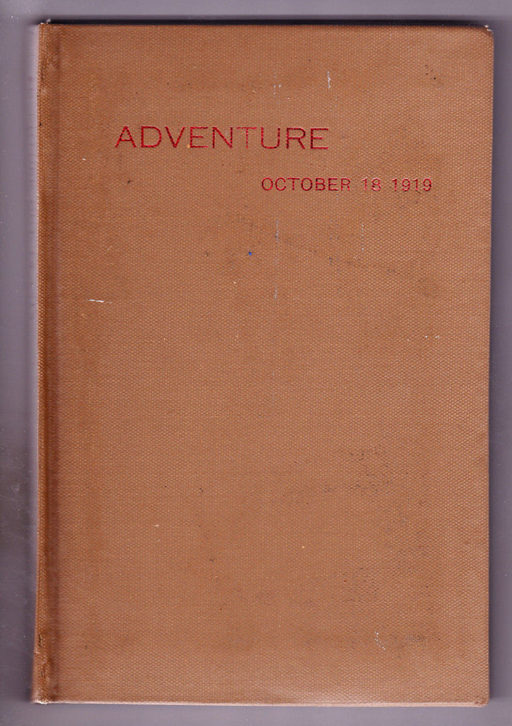 Adventure October 18 1919 Hard Cover