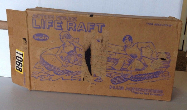 Action Figure Life Raft and Accessories    1960s    Original Box