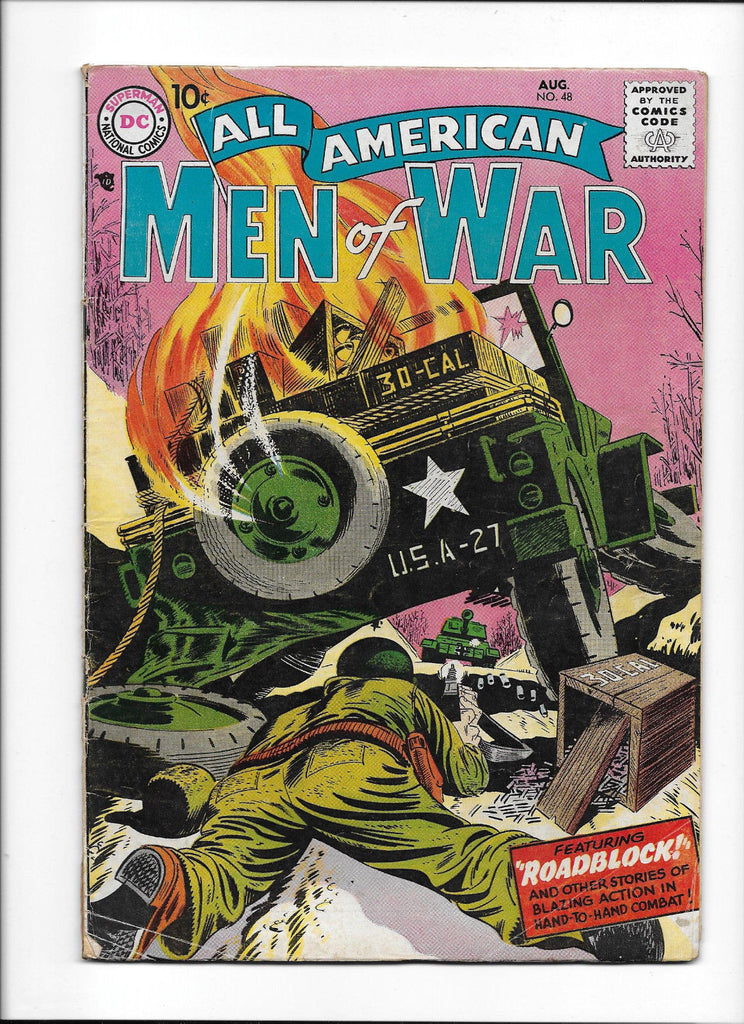 ALL AMERICAN MEN OF WAR  #48  [1957 VG+]  EASY CO. STORY!