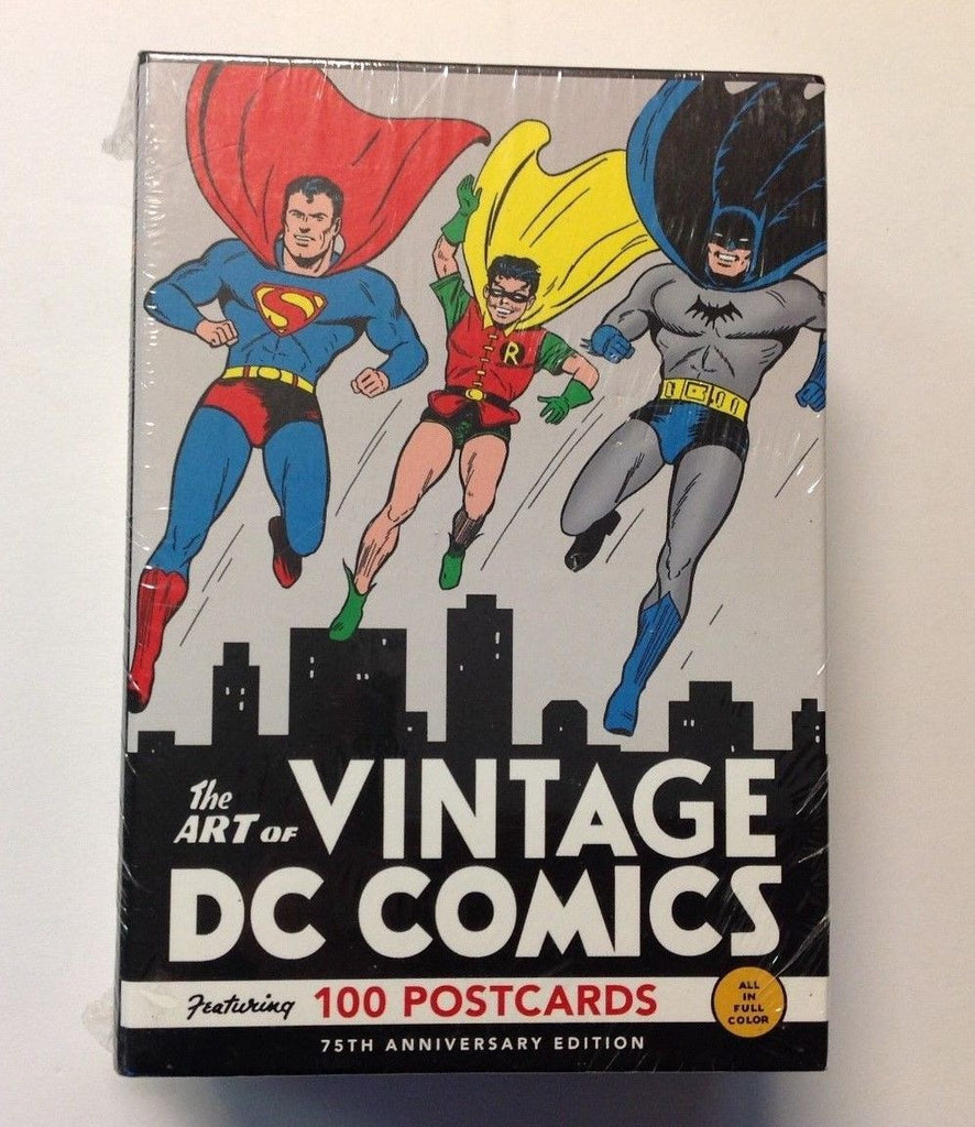 Art of Vintage DC Comics 100 Postcards  75th Anniversary Edition   Sealed