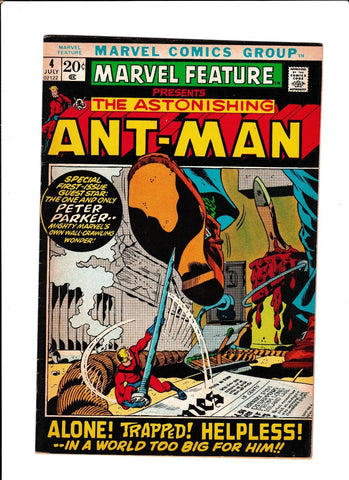MARVEL FEATURE #4  [1972 VG-FN]  RE-INTRO ANT-MAN ORIGIN!