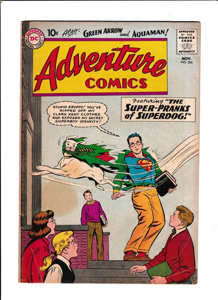 ADVENTURE COMICS  #266  [1959 GD-VG]  1ST ORIGIN AQUA-GIRL!